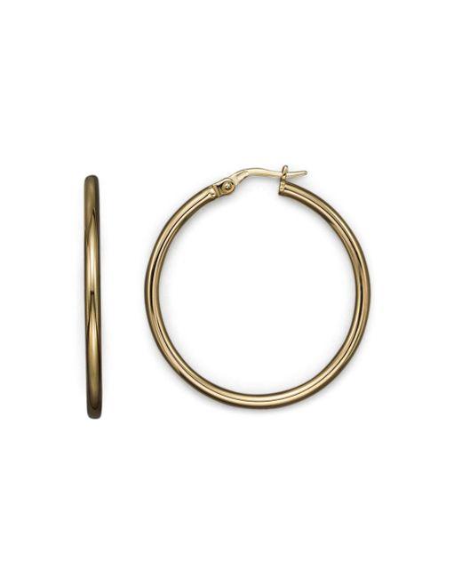 Roberto Coin - Metallic 18k Yellow Gold Hoop Earrings - Lyst