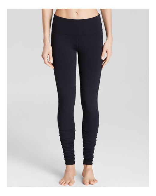 Alo Yoga | Black Goddess Ribbed Leggings | Lyst
