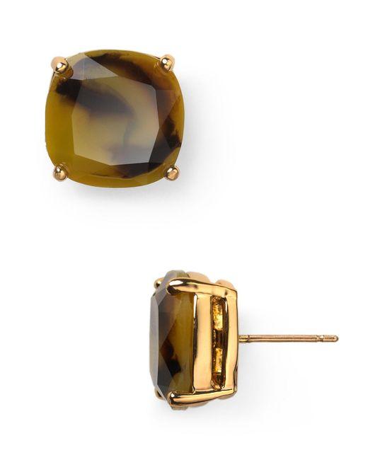 Kate Spade | Metallic Small Square Stud Earrings | Lyst