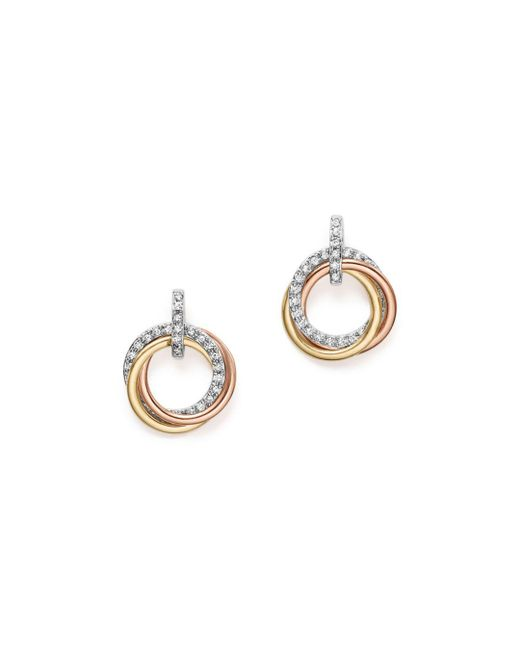 KC Designs - Multicolor 14k Gold Diamond Triple Circle Earrings - Lyst