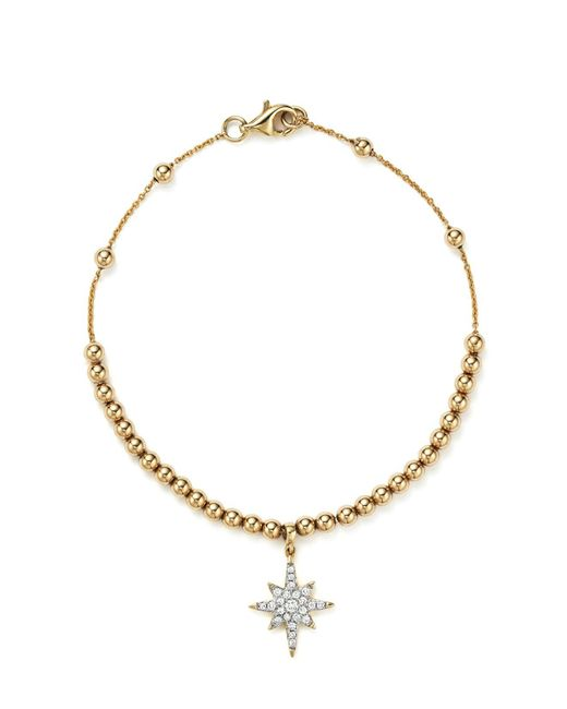 KC Designs | Metallic Diamond Starburst Bead Bracelet In 14k Yellow Gold | Lyst