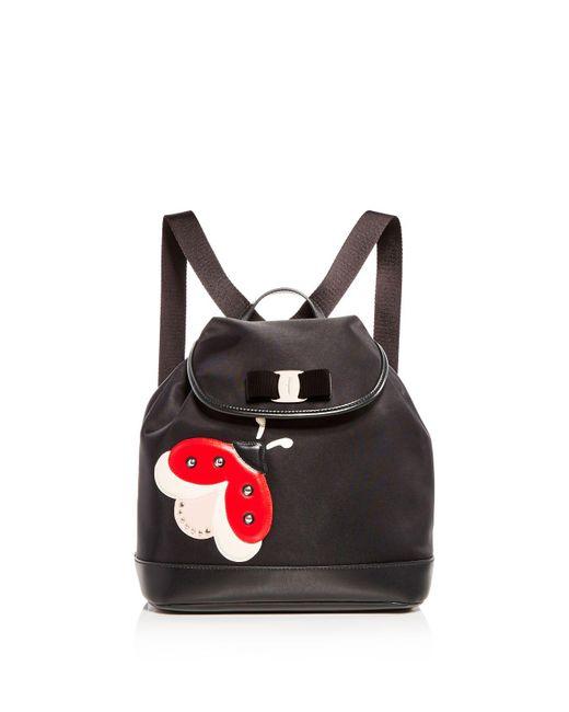 Ferragamo   Black Wendy Ladybug Backpack   Lyst