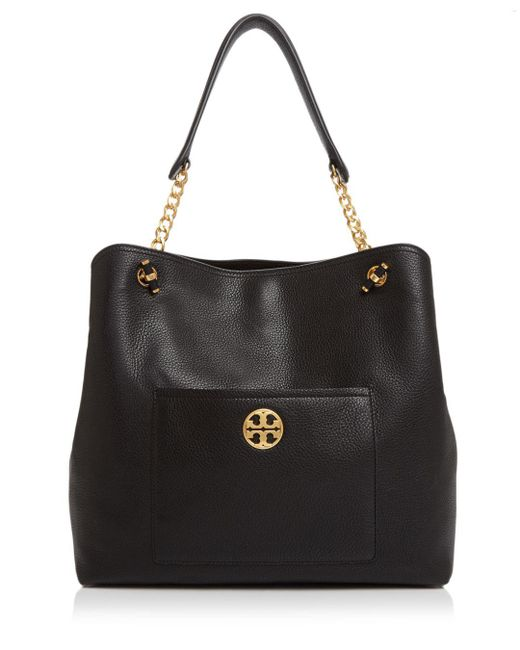 Tory Burch - Black Chelsea Slouchy Leather Tote - Lyst