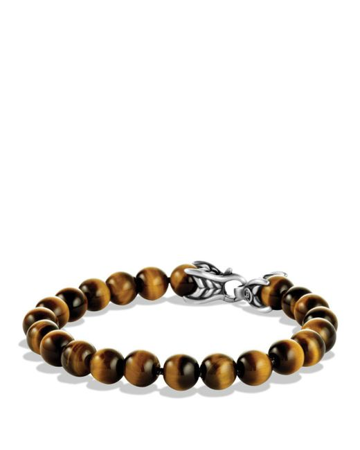 David Yurman - Metallic Spiritual Beads Bracelet With Tiger's Eye for Men - Lyst