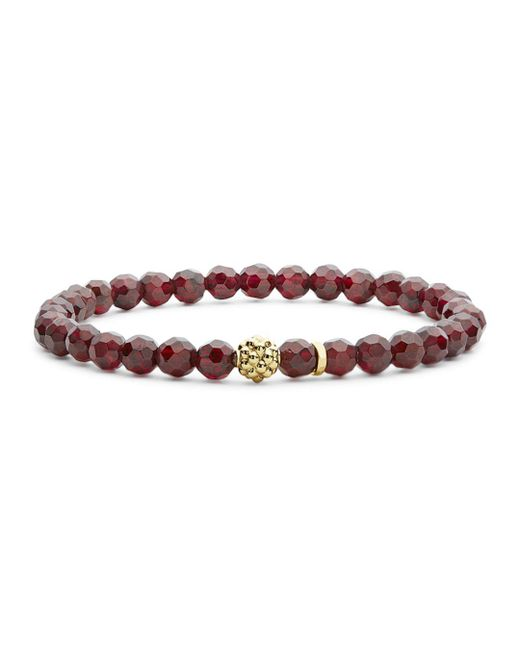 Lagos - Multicolor Caviar Icon Garnet Bracelet With 18k Gold Caviar Station - Lyst