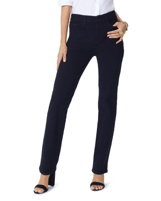 NYDJ - Petites Slim-leg Jeans In Black - Lyst