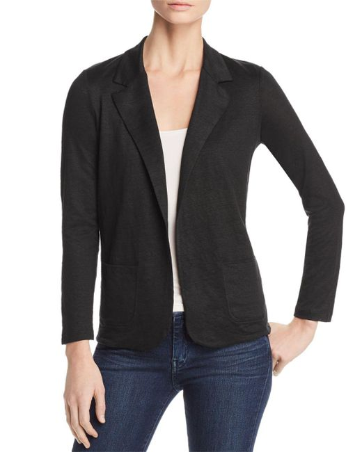 Majestic Filatures - Black Stretch-linen Open Blazer - Lyst