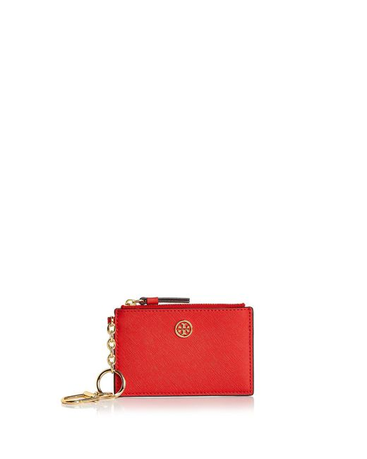 Tory Burch - Multicolor Robinson Leather Card Case - Lyst