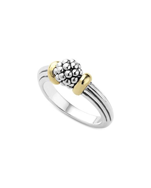 Lagos   Metallic 18k Gold Caviar Forever Small Dome Ring   Lyst