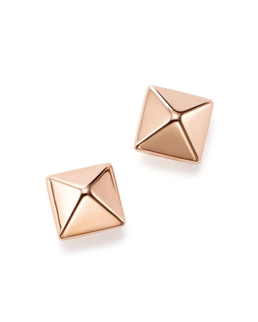 Bloomingdale's - Multicolor 14k Rose Gold Medium Pyramid Post Earrings - Lyst