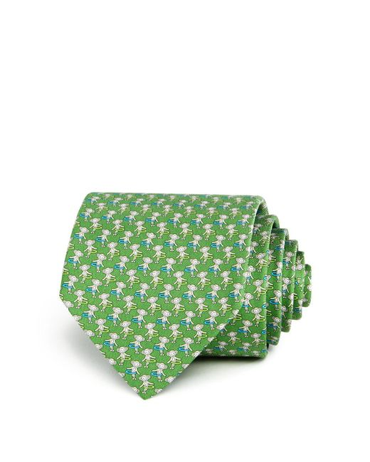 Ferragamo | Green Hula Hoop Monkeys Classic Tie for Men | Lyst