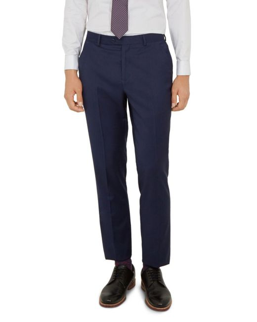 Ted Baker - Blue Blairt Debonair Plain Wool Slim Fit Suit Trousers for Men - Lyst