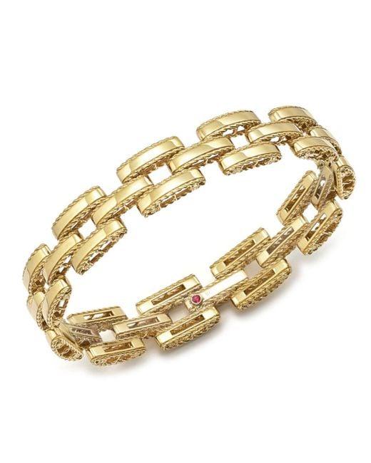Roberto Coin - Metallic 18k Yellow Gold Retro Bracelet - Lyst