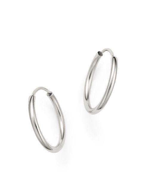 Bloomingdale's - 14k White Gold Endless Hoop Earrings - Lyst