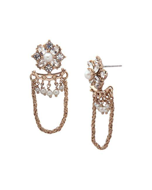 Marchesa | Metallic Drop Earrings | Lyst