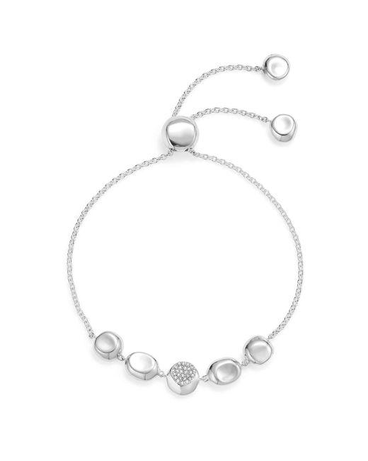 Ippolita | Metallic Sterling Silver Onda Pavé Diamond Chain Bracelet | Lyst