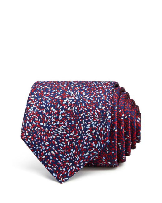 Lanvin - Red Abstract Floral Classic Tie for Men - Lyst