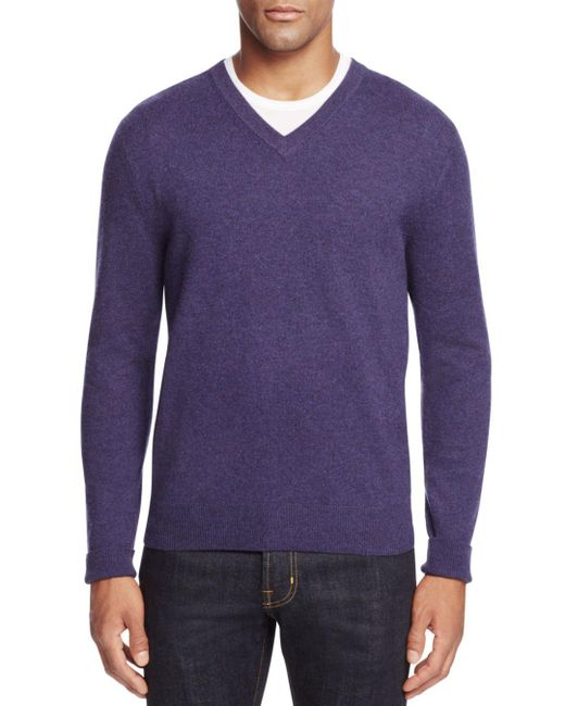 Bloomingdale's - Multicolor Cashmere V-neck Sweater for Men - Lyst
