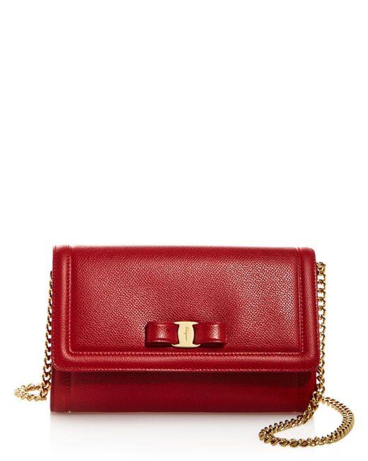 Ferragamo - Red Vara Bow Mini Bag - Lyst
