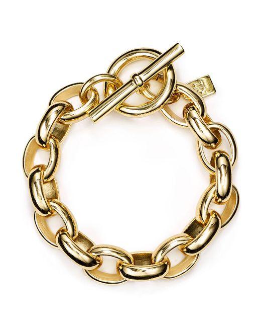 Ralph Lauren | Metallic Lauren Oval Link Chain Bracelet | Lyst
