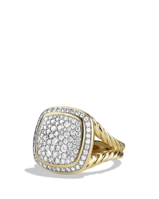 David Yurman - Metallic Albion Ring With Diamonds In 18k Gold - Lyst