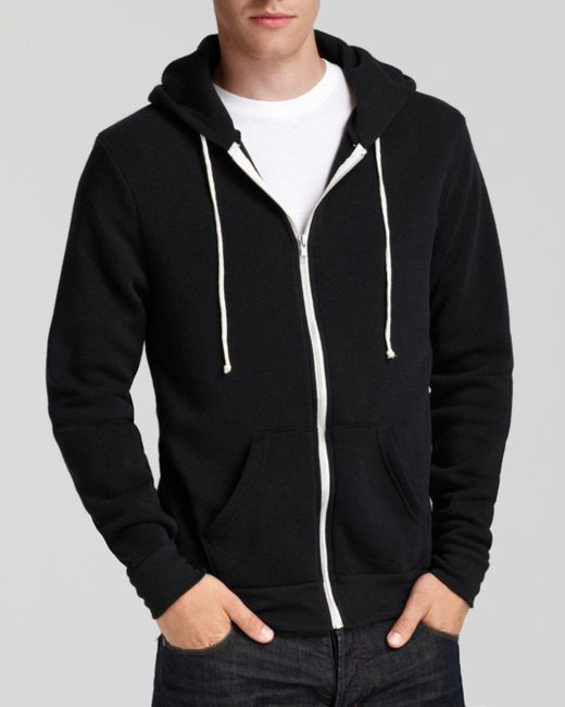 Alternative Apparel - Black Rocky Zip Hoodie for Men - Lyst