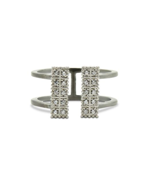 Freida Rothman - Metallic Open Cuff Ring - Lyst