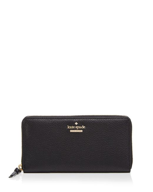 Kate Spade - Black Jackson Street Lacey Leather Wallet - Lyst