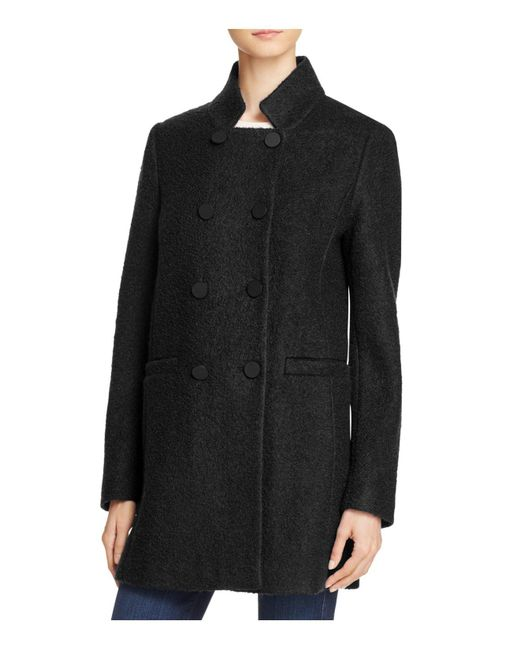 T Tahari - Black Harper Double-breasted Front Coat - Lyst