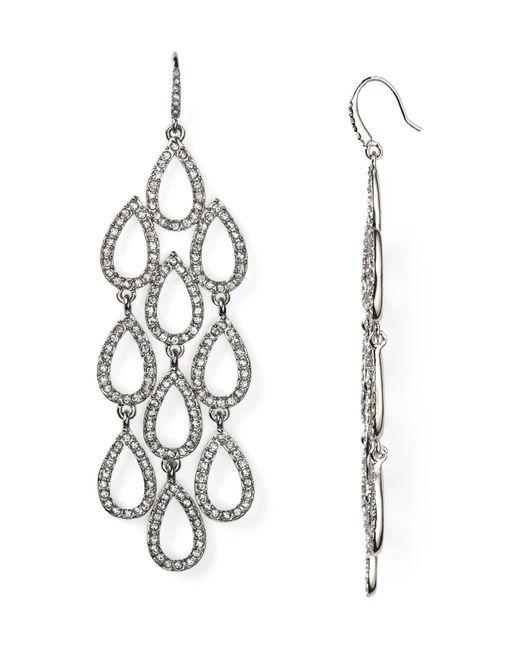 ABS By Allen Schwartz   Metallic Pave Beach Chandelier Earrings   Lyst
