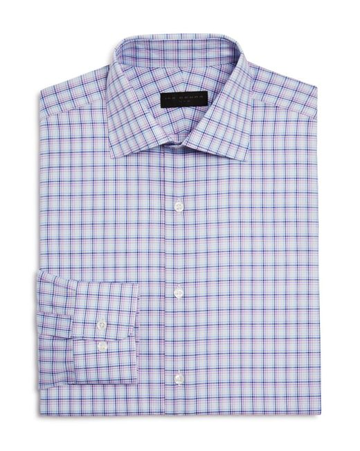 Ike Behar | Blue Check Regular Fit Dress Shirt for Men | Lyst