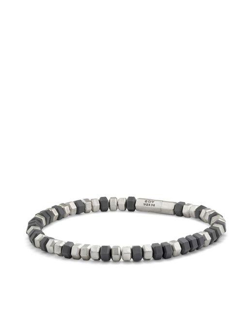 David Yurman | Metallic Hexagon Bead Bracelet In Grey | Lyst