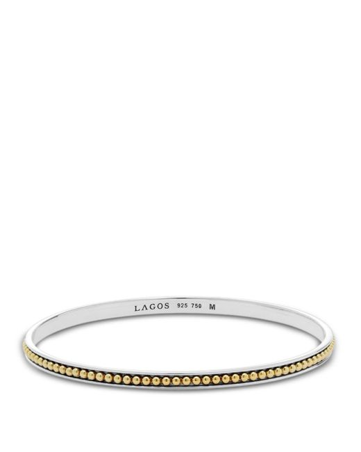 Lagos - Metallic 18k Gold And Sterling Silver Enso Bangle Bracelet - Lyst