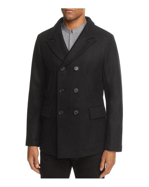 Billy Reid - Black Bond Pea Coat for Men - Lyst