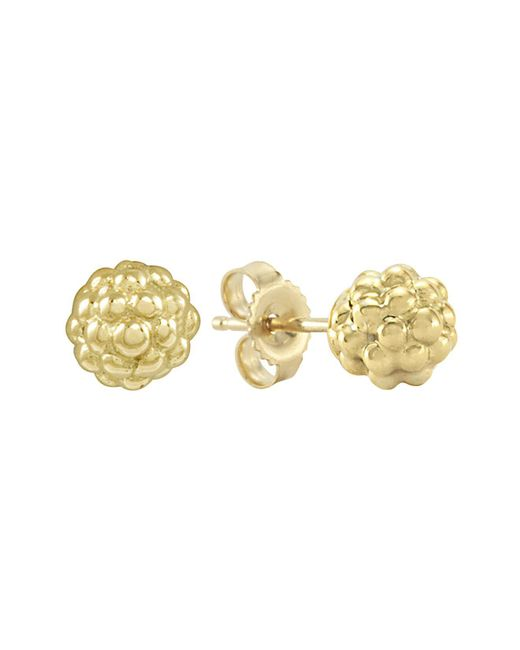 Lagos - Metallic 18k Gold Stud Earrings - Lyst