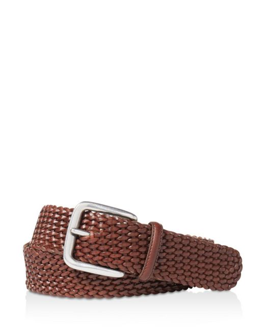 "Ralph Lauren - Brown Polo ""savannah"" Braided Belt for Men - Lyst"