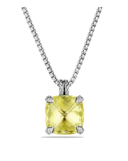 David Yurman - Metallic Châtelaine Pendant Necklace With Lemon Citrine And Diamonds - Lyst
