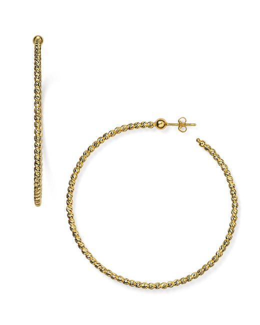 Officina Bernardi - Metallic Hoop Earrings - Lyst