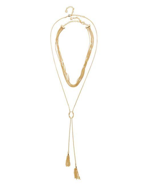 BaubleBar - Metallic Delania Lariat Necklace - Lyst