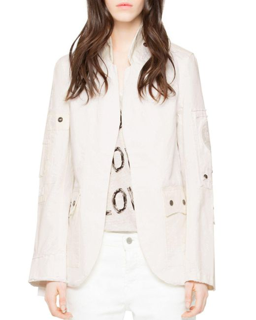 Zadig & Voltaire - Multicolor Very Grunge Embellished Jacket - Lyst
