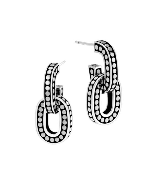 John Hardy - Metallic Sterling Silver Dot Link Earrings - Lyst