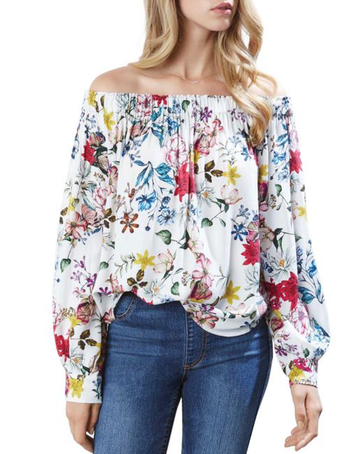 Karen Kane - Multicolor Off-the-shoulder Floral Top - Lyst