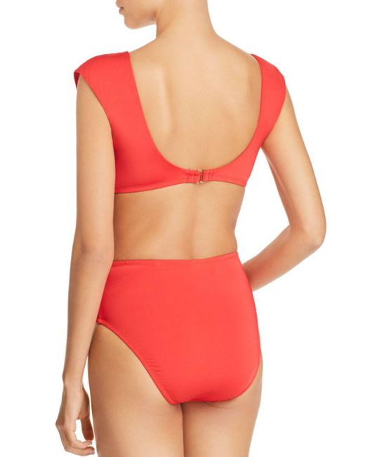 5e897211fa1aa ... Trina Turk - Red Getaway Solids High Waist Bikini Bottom - Lyst