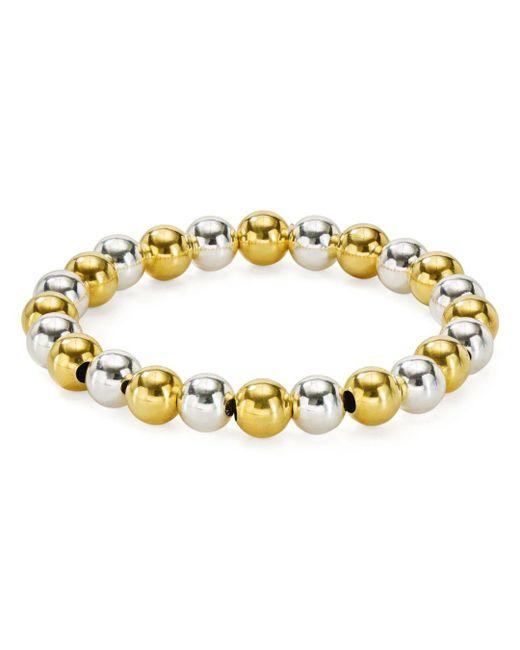 Aqua - Metallic Beaded Stretch Bracelet - Lyst