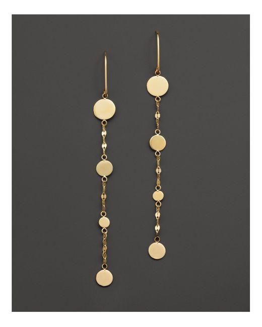 Lana Jewelry | Metallic 14k Yellow Gold Short Shimmer Drop Earrings | Lyst