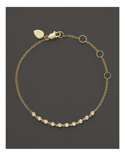 Meira T | Metallic 14k Yellow Gold Diamond Bezel Bracelet | Lyst