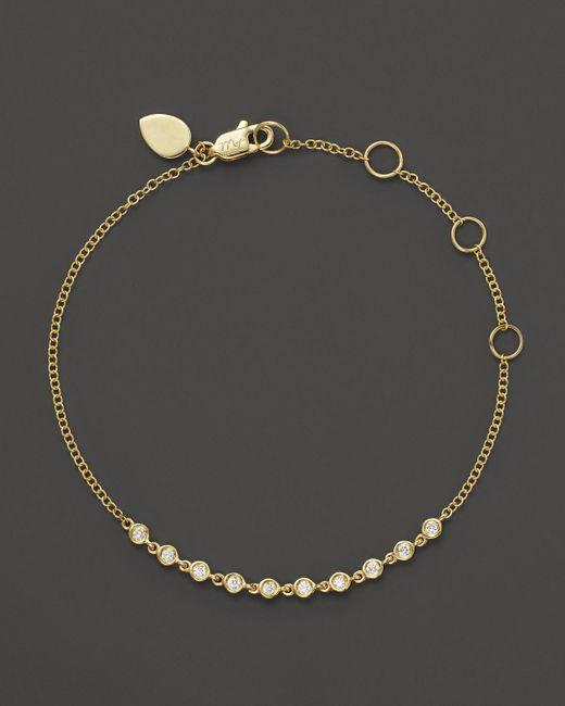Meira T   Metallic 14k Yellow Gold Diamond Bezel Bracelet   Lyst