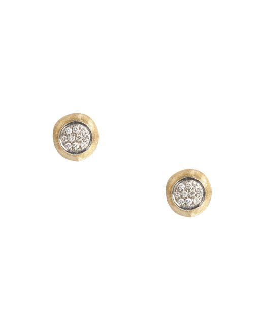 Marco Bicego | Metallic Delicati Earring In 18k Yellow Gold With Pavé Diamonds | Lyst