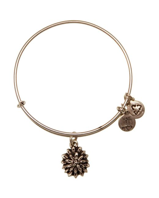 ALEX AND ANI | Metallic Water Lily Expandable Wire Bangle | Lyst