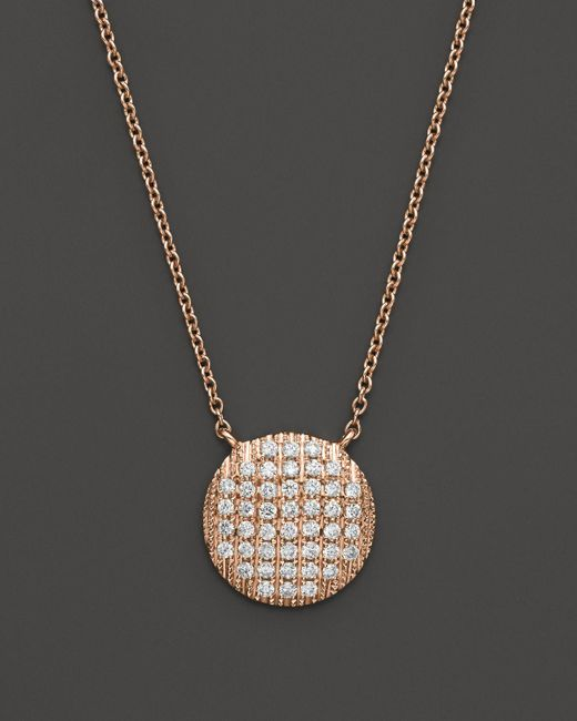 "Dana Rebecca   Pink 14k Rose Gold Diamond Lauren Joy Large Necklace, 16""   Lyst"